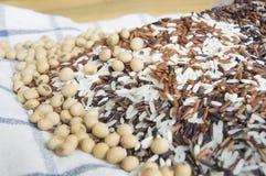 Sementes tailandesas do feijão do arroz e da soja Imagem de Stock Royalty Free