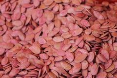 Sementes vermelhas do melão Imagens de Stock Royalty Free