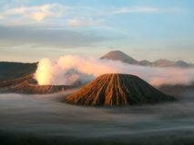 Semeru, Batok and Bromo Stock Images