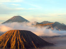 Semeru, Batok and Bromo Stock Image