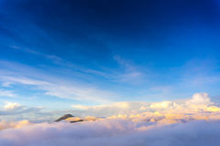 Semeru mount over the cloud Stock Image
