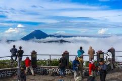 Semeru mountain over the cloud Stock Image