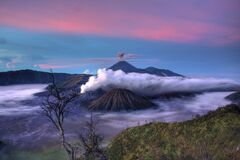 Semeru Volcano in Indonesia Royalty Free Stock Photos