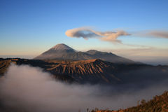 Semeru volcano on Java, Indonesia Stock Photos