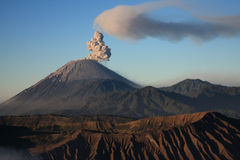 Semeru volcano on Java, Indonesia royalty free stock photo