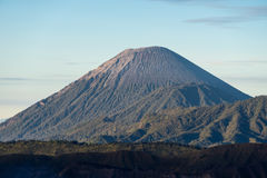 Semeru volcano mountain peak in a morning, East Java, Indonesia Stock Photography