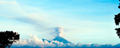Semeru Volcano View. Semeru volcano is the most active volcano in Java island Royalty Free Stock Photos