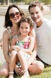 semester för familj tre Fotografering för Bildbyråer