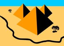 semester för sommar för ökenegypt ferier royaltyfri illustrationer