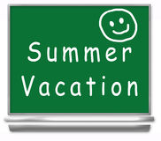 semester för sommar för tavlaungeskola Royaltyfri Bild