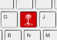 semester för tangentbord för datortangent Royaltyfria Bilder