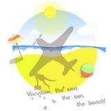 Semester havet, solen, stranden Royaltyfria Bilder
