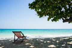 Semester på stranden i Thailand Royaltyfria Bilder