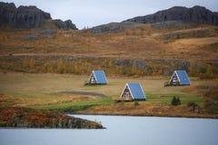 Semesterhem - Fellabaer - Island Arkivfoto
