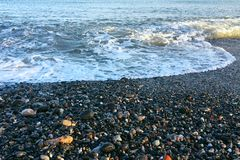 Semestern för sommar för stranden för havsskumsäsongen kopplar av tycker om begrepp Arkivbilder