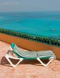 semesterort för balkongstolsvardagsrum Arkivfoton