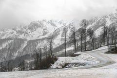 Semesterort för bergmaximum Fantastiskt naturlandskap med berget ro Arkivbilder