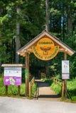 Semesterort för ferie för barn` s på berget Arkivfoton