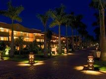 semesterort för hotellmexico natt Arkivfoton