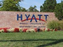 Semesterort för Hyatt Regency Chesapeakefjärd i Cambridge, Maryland fotografering för bildbyråer