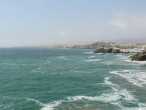 Semesterort för Puerto fältstrand på söderna av Lima Royaltyfri Fotografi