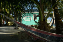 Semesterort för slut för rev` s i Belize royaltyfri fotografi