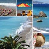 semesterort för strand collage3 Arkivbild