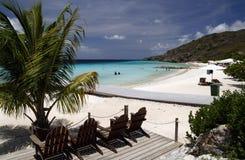 semesterort för strandcuracao paradis Fotografering för Bildbyråer