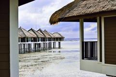Semesterort för strandhus Royaltyfri Bild