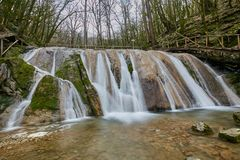 semesterort för 33 vattenfall i Sochi Ryssland Fotografering för Bildbyråer