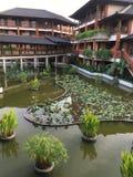 Semesterort i Nusa Dua Bali Indonesien Arkivbild