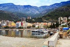 Semesterortby i Montenegro Arkivbild