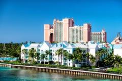 Semesterorten för Atlantis paradisö som lokaliseras i Bahamas Arkivbilder