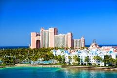 Semesterorten för Atlantis paradisö som lokaliseras i Bahamas Fotografering för Bildbyråer