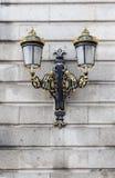 semesterorten för natten för lampan för altay belokurikhahälsa sköt den siberia gatan Royaltyfria Bilder