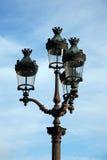 semesterorten för natten för lampan för altay belokurikhahälsa sköt den siberia gatan Royaltyfri Bild
