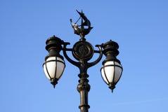 semesterorten för natten för lampan för altay belokurikhahälsa sköt den siberia gatan arkivbild