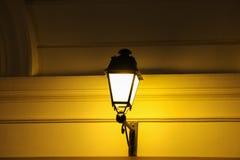 semesterorten för natten för lampan för altay belokurikhahälsa sköt den siberia gatan Royaltyfria Foton