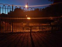 semesterorten för natten för lampan för altay belokurikhahälsa sköt den siberia gatan Arkivfoto