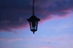 semesterorten för natten för lampan för altay belokurikhahälsa sköt den siberia gatan Arkivbilder