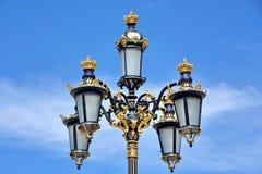 semesterorten för natten för lampan för altay belokurikhahälsa sköt den siberia gatan Royaltyfri Foto