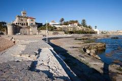 Semesterortstad av Estoril i Portugal Arkivbilder