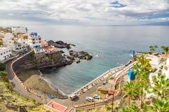 Semesterortstad Puerto de Santiago, Tenerife Royaltyfri Fotografi