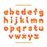 Semestra den orange vektorstilsorten som isoleras på vit bg Arkivbilder