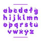 Semestra den purpurfärgade vektorstilsorten som isoleras på vit bg Royaltyfria Foton