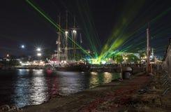 Semestra festmåltiden på tillfället av dagen av Varna havshuvudstaden av Bulgarien - en officiell ferie på Augusti 15th Datumcoie Fotografering för Bildbyråer