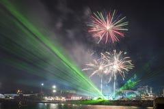 Semestra festmåltiden på tillfället av dagen av Varna havshuvudstaden av Bulgarien - en officiell ferie på Augusti 15th Datumcoie Royaltyfri Bild