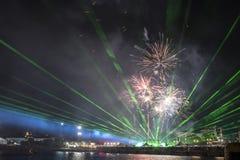 Semestra festmåltiden på tillfället av dagen av Varna havshuvudstaden av Bulgarien - en officiell ferie på Augusti 15th Datumcoie Royaltyfria Bilder