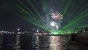 Semestra festmåltiden på tillfället av dagen av Varna havshuvudstaden av Bulgarien - en officiell ferie på Augusti 15th Datumcoie Royaltyfria Foton