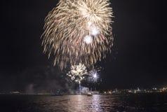 Semestra festmåltiden på tillfället av dagen av Varna havshuvudstaden av Bulgarien - en officiell ferie på Augusti 15th Datumcoie Royaltyfri Foto